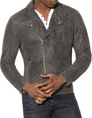 John Varvatos Star U.S.A. Biker Suede Moto Jacket-BLACK-Small 88999802_BLACK_Small