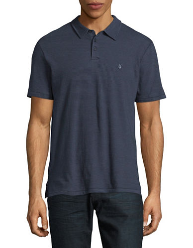 John Varvatos Star U.S.A. Striped Peace Sign Polo-DEEP BLUE-XX-Large