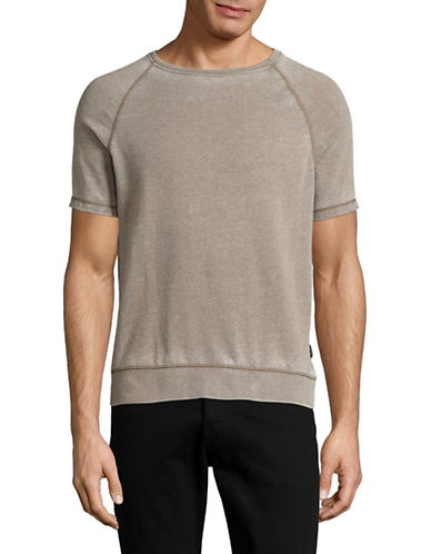 John Varvatos Star U.S.A. French Terry T-Shirt-SAGE-X-Large