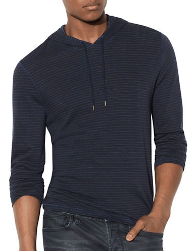 John Varvatos Star U.S.A. Striped Linen Hoodie-BLUE-Large 88999720_BLUE_Large
