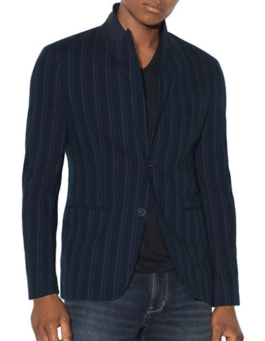 John Varvatos Star U.S.A. Peak Lapel Cotton Jacket-BLUE-40