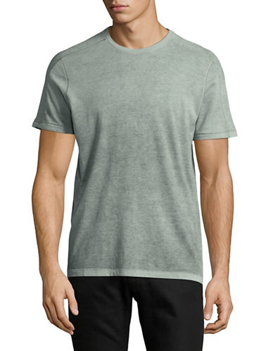 John Varvatos Star U.S.A. Reverse Sprayed T-Shirt-GREEN-Small