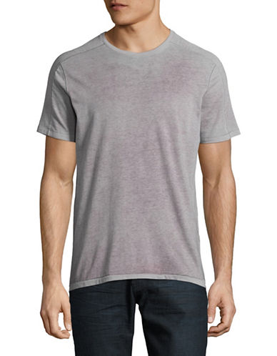 John Varvatos Star U.S.A. Reverse Sprayed T-Shirt-PURPLE-Large