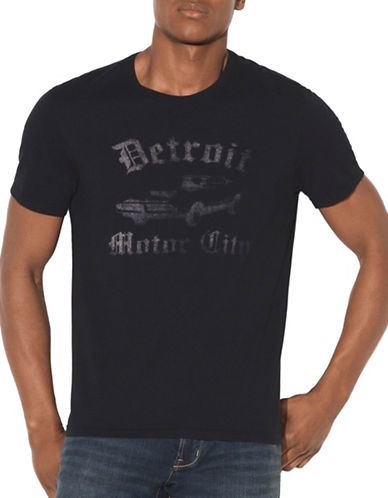 John Varvatos Star U.S.A. Detroit Motor City T-Shirt-BLACK-Medium