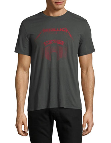 John Varvatos Star U.S.A. Metallica Sanitarium Graphic T-Shirt-GREY-Small
