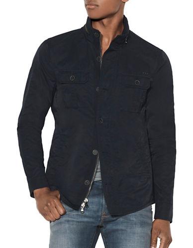 John Varvatos Star U.S.A. Button Front Shirt Jacket-NAVY-Small