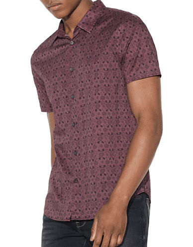 John Varvatos Star U.S.A. Mayfiled Slim Fit Sport Shirt-RED-XX-Large
