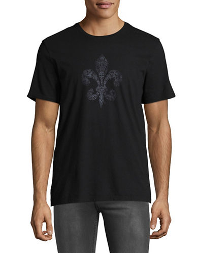 John Varvatos Star U.S.A. Fleur-de-lis Graphic Tee-BLACK-Medium