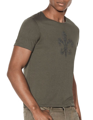 John Varvatos Star U.S.A. Fleur-de-lis Graphic Tee-GREEN-Large