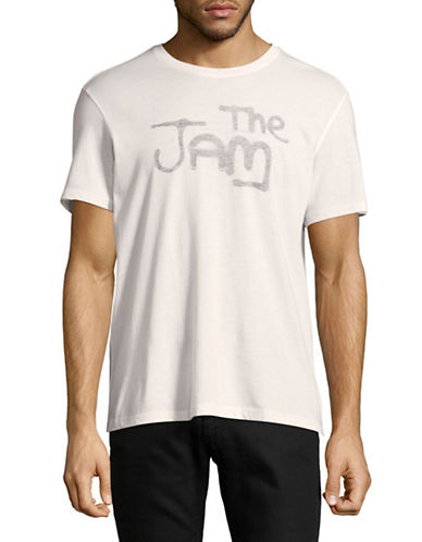 John Varvatos Star U.S.A. The Jam Logo Graphic Tee-NATURAL-Medium