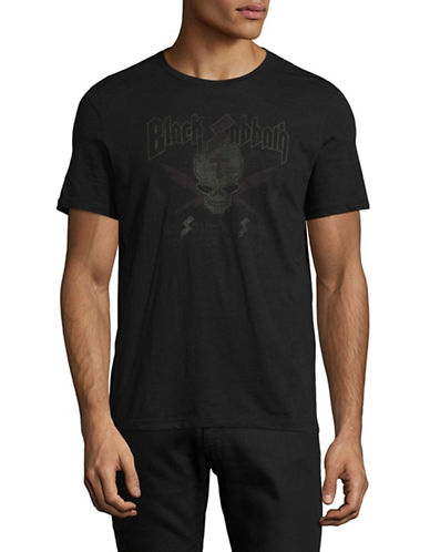 John Varvatos Star U.S.A. Black Sabbath Graphic Tee-BLACK-X-Large