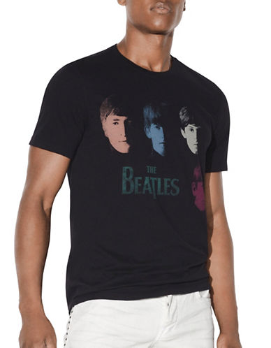 John Varvatos Star U.S.A. The Beatles Faces Cotton Tee-BLACK-Medium