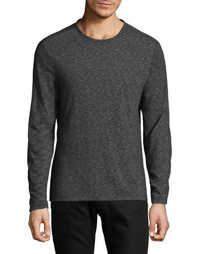 John Varvatos Star U.S.A. Deta Heathered Sweatshirt-GREY-Small