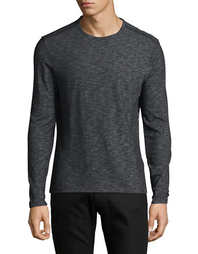 John Varvatos Star U.S.A. Deta Heathered Sweatshirt-BLUE-Small