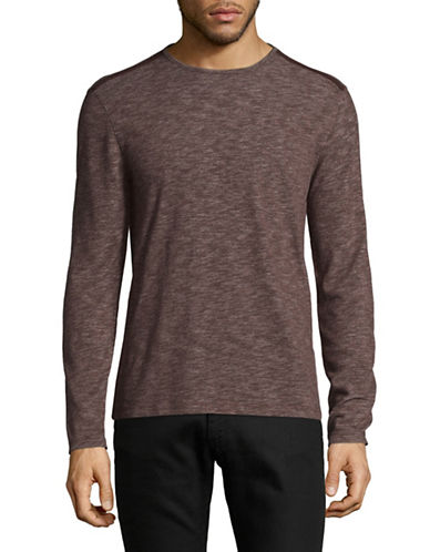 John Varvatos Star U.S.A. Deta Heathered Sweatshirt-RED-Small