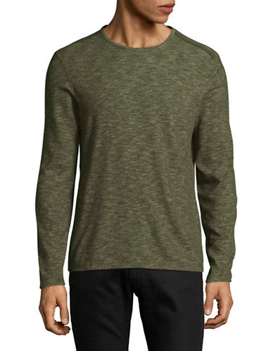 John Varvatos Star U.S.A. Deta Heathered Sweatshirt-GREEN-X-Large
