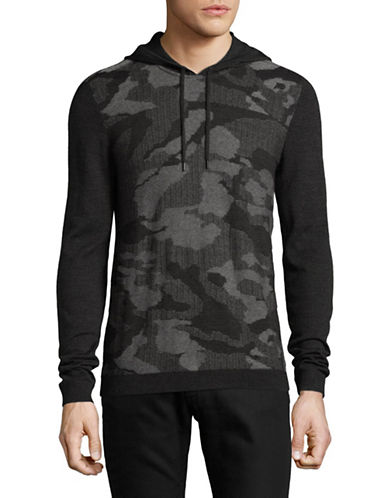 John Varvatos Star U.S.A. Camouflage Hooded Sweater-GREY-Large