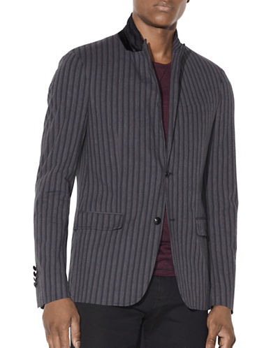 John Varvatos Star U.S.A. Thompson Vintage Stripe Jacket-GREY-38