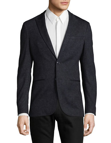 John Varvatos Star U.S.A. Peak Lapels Jacket-BLUE-36