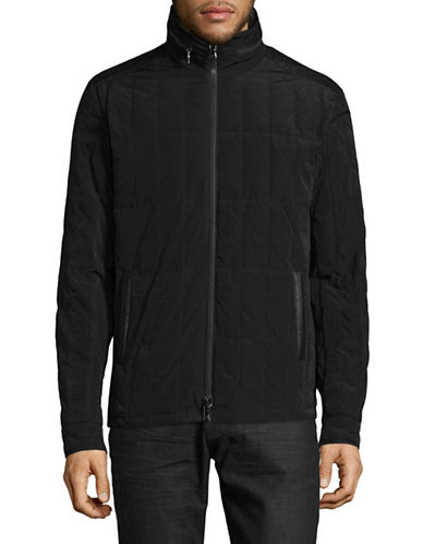 John Varvatos Star U.S.A. Quilted Jacket-BLACK-Small