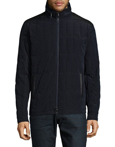 John Varvatos Star U.S.A. Quilted Jacket-BLUE-Medium