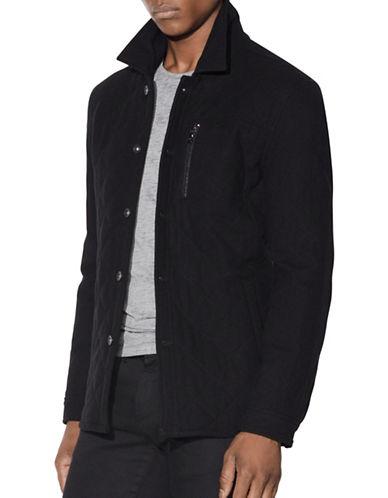 John Varvatos Star U.S.A. Quilted Jacket-BLACK-X-Large