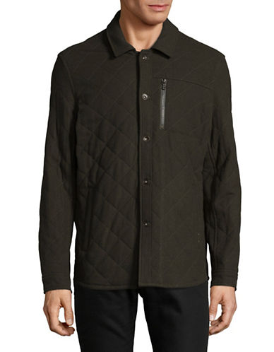 John Varvatos Star U.S.A. Quilted Jacket-GREEN-Small 89420359_GREEN_Small