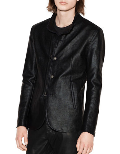 John Varvatos Star U.S.A. Coated Cotton Jacket-BLACK-Small