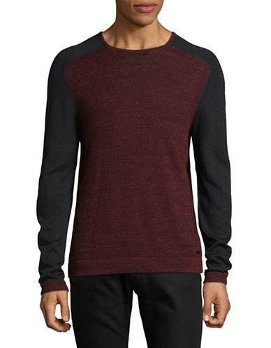 John Varvatos Star U.S.A. Long Sleeve Saddle Shoulder Shirt-RED-Small