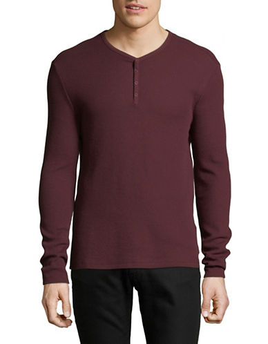 John Varvatos Star U.S.A. Snap Knit Henley-PINK-Medium