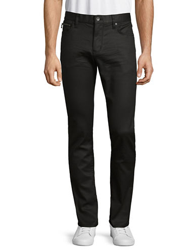 John Varvatos Star U.S.A. Wight Zip-Pocket Skinny Jeans-BLACK-32X32