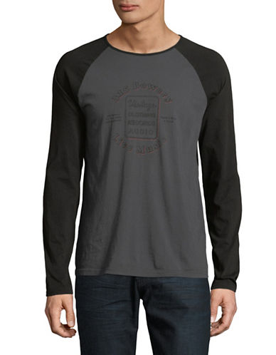 John Varvatos Star U.S.A. Bowery Sign Cotton T-Shirt-GREY-X-Small 89698555_GREY_X-Small