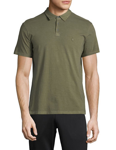John Varvatos Star U.S.A. Logo Cotton Polo-GREEN-Small