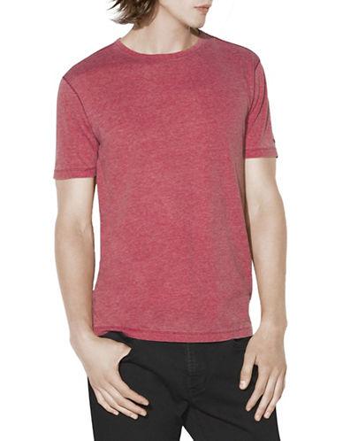 John Varvatos Star U.S.A. Burnout Knit Cotton Tee-RED-Medium