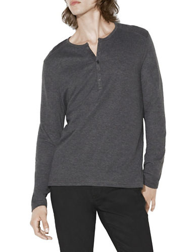 John Varvatos Star U.S.A. Double Face Henley-CHARCOAL GREY-Large