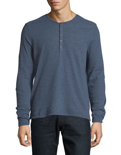John Varvatos Star U.S.A. Double Face Henley-BLUE-Small