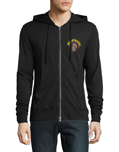 John Varvatos Star U.S.A. Guns N Roses Graphic Hoodie-BLACK-X-Large