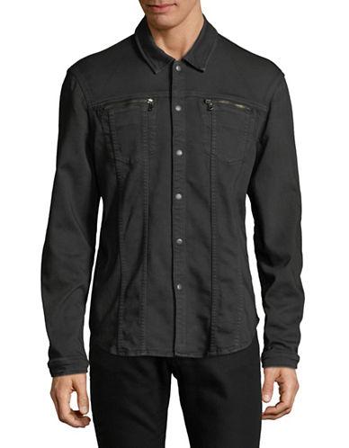 John Varvatos Star U.S.A. Snap Front Collared Shirt-GREY-Medium