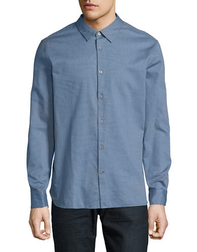 John Varvatos Star U.S.A. Mayfield Cotton Sport Shirt-BLUE-X-Large