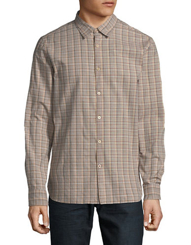 John Varvatos Star U.S.A. Mayfield Cotton Sport Shirt-GREEN-Large