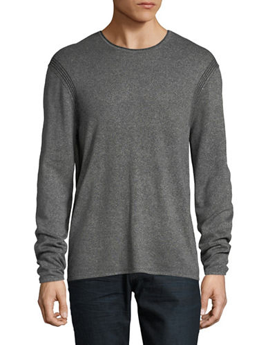 John Varvatos Star U.S.A. Round Neck Long-Sleeve Sweater-GREY-X-Large