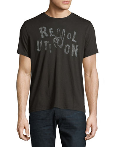 John Varvatos Star U.S.A. Revolution Graphic T-Shirt-BLACK-XX-Large