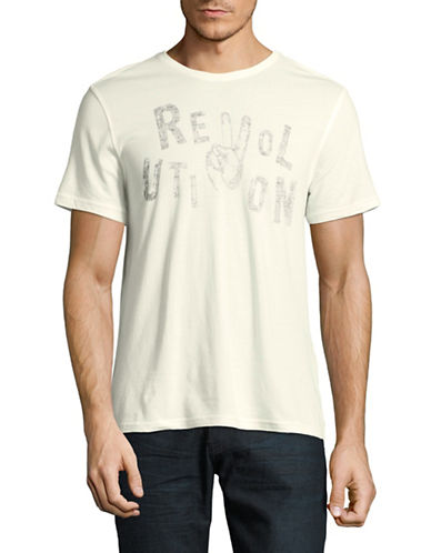 John Varvatos Star U.S.A. Revolution Graphic T-Shirt-NATURAL-Large