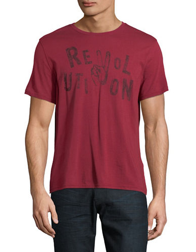 John Varvatos Star U.S.A. Revolution Graphic T-Shirt-RED-Small