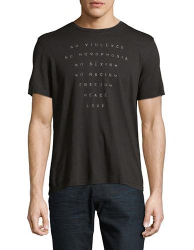 John Varvatos Star U.S.A. No Violence Graphic T-Shirt-BLACK-Small