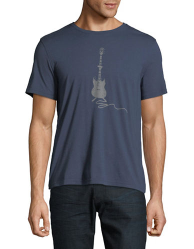 John Varvatos Star U.S.A. Round Neck Graphic Tee-BLUE-Small