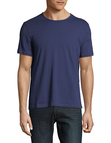 John Varvatos Star U.S.A. Knit Cotton T-Shirt-BLUE-X-Small 89818948_BLUE_X-Small