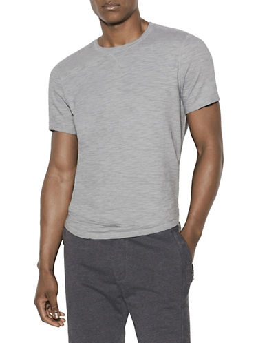 John Varvatos Star U.S.A. Short-Sleeve Sublime Slub T-Shirt-GREY-Small 90035268_GREY_Small