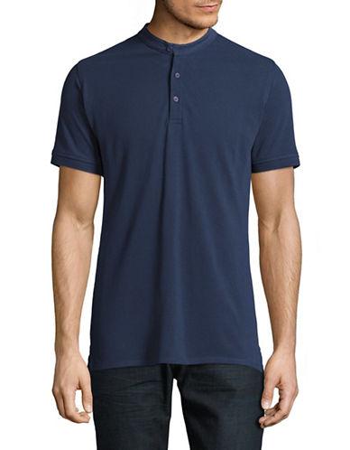 Highline Collective Banded Collar Polo-BLUE-Medium
