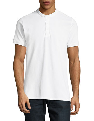 Highline Collective Banded Collar Polo-WHITE-X-Large